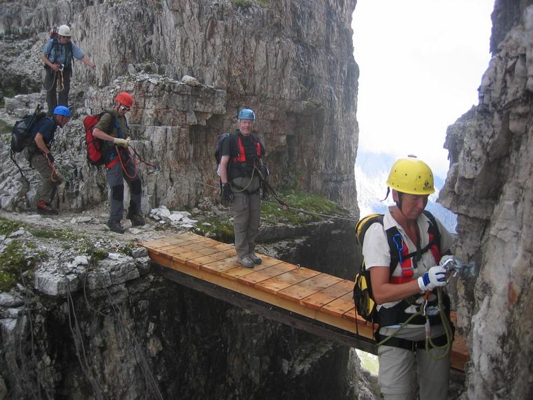 Klettersteig Paternkofel : Paternkofel innerkofler klettersteig sextner dolomiten